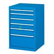 图片 发弥 固定式工具柜,(六个抽屉)100kg 蓝色,EHFA09