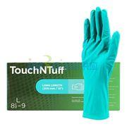 图片 Ansell 92-605-S Touch N Tuff一次性超长丁腈无粉手套,100只/盒